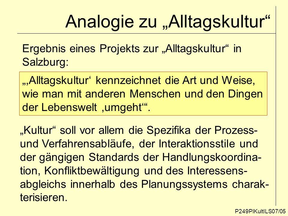 """Analogie zu """"Alltagskultur"""