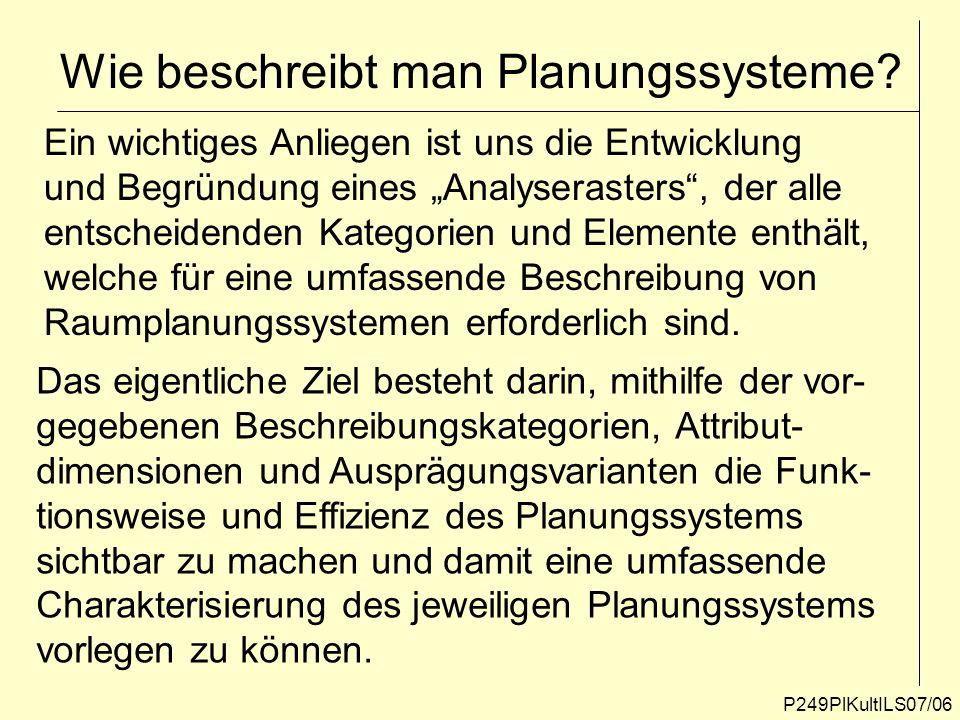 Wie beschreibt man Planungssysteme