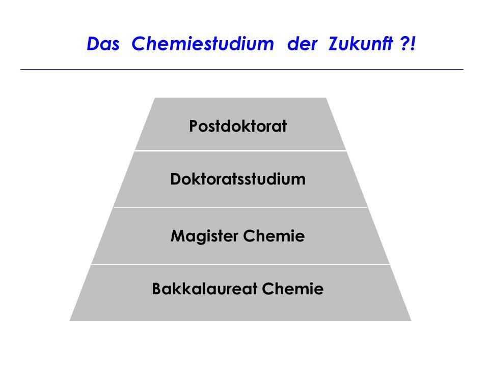 Das Chemiestudium der Zukunft !