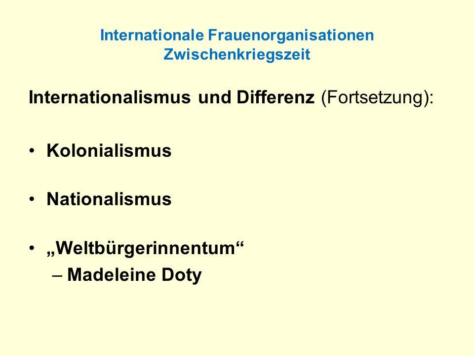 Internationale Frauenorganisationen Zwischenkriegszeit
