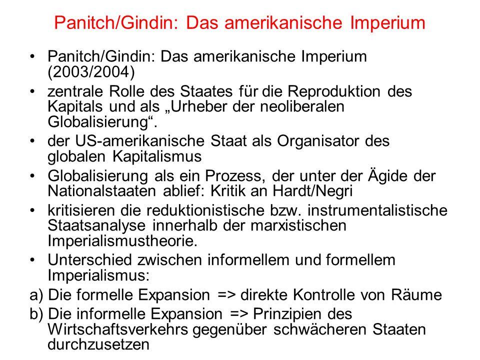 Panitch/Gindin: Das amerikanische Imperium