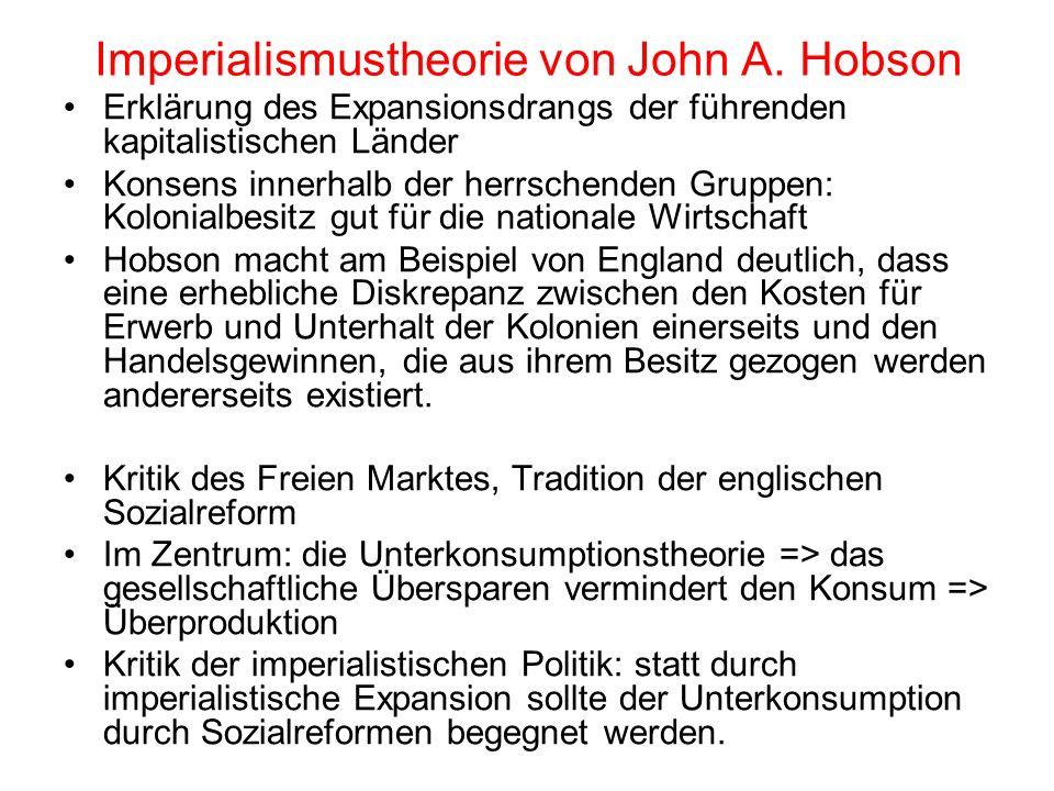 Imperialismustheorie von John A. Hobson