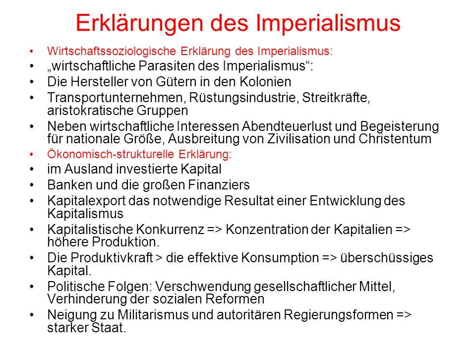 Erklärungen des Imperialismus