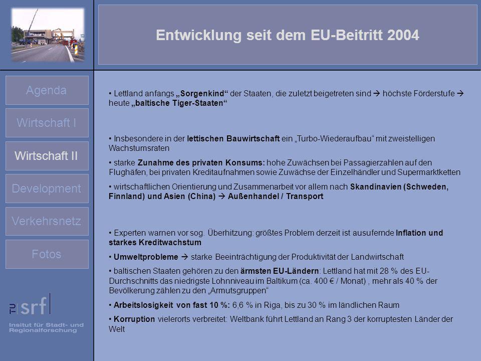 Entwicklung seit dem EU-Beitritt 2004