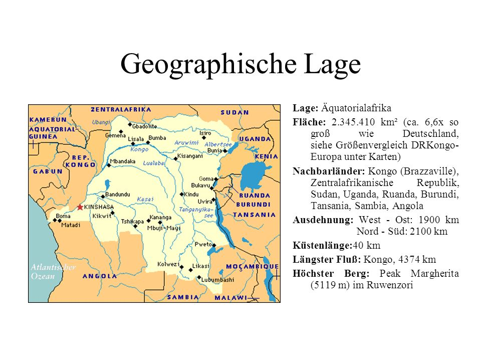 Geographische Lage Lage: Äquatorialafrika