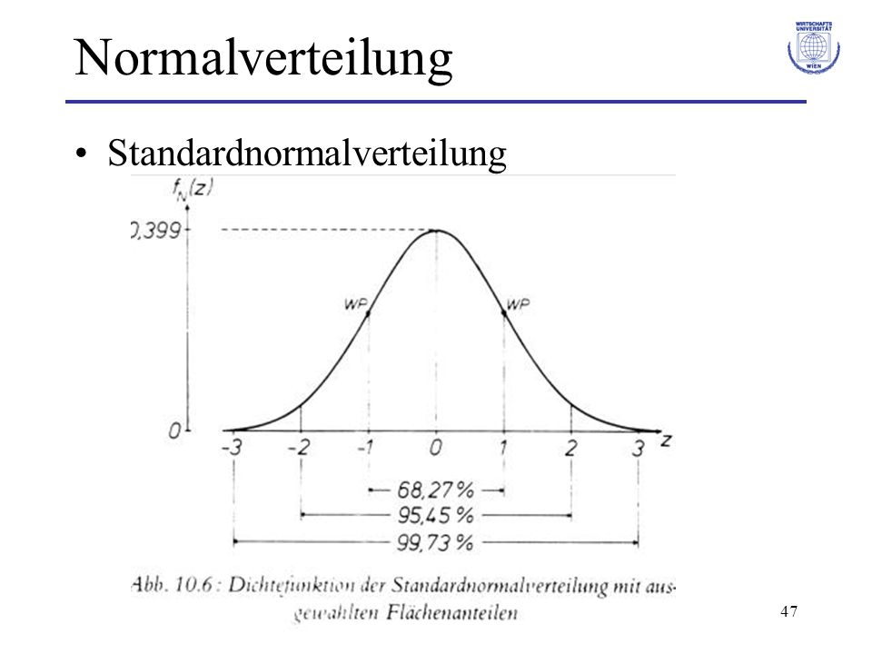 Normalverteilung Standardnormalverteilung