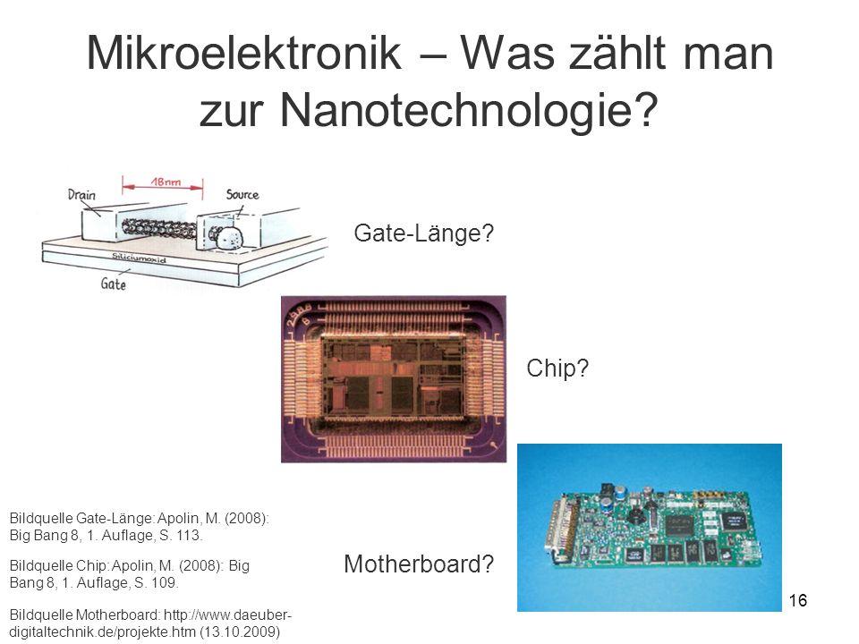 Mikroelektronik – Was zählt man zur Nanotechnologie