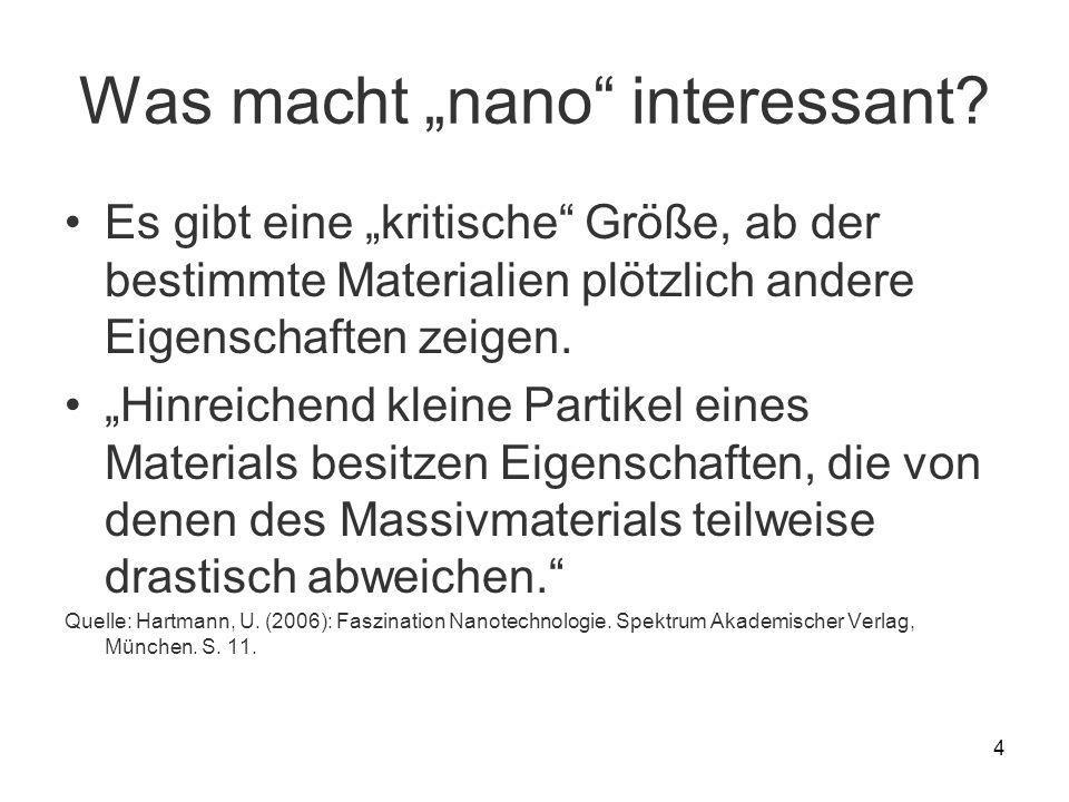 "Was macht ""nano interessant"
