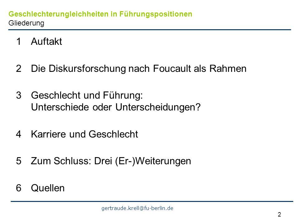 Die Diskursforschung nach Foucault als Rahmen