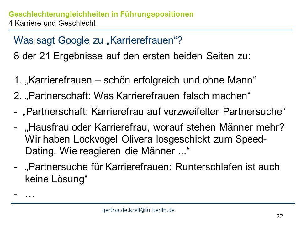 """Was sagt Google zu """"Karrierefrauen"""
