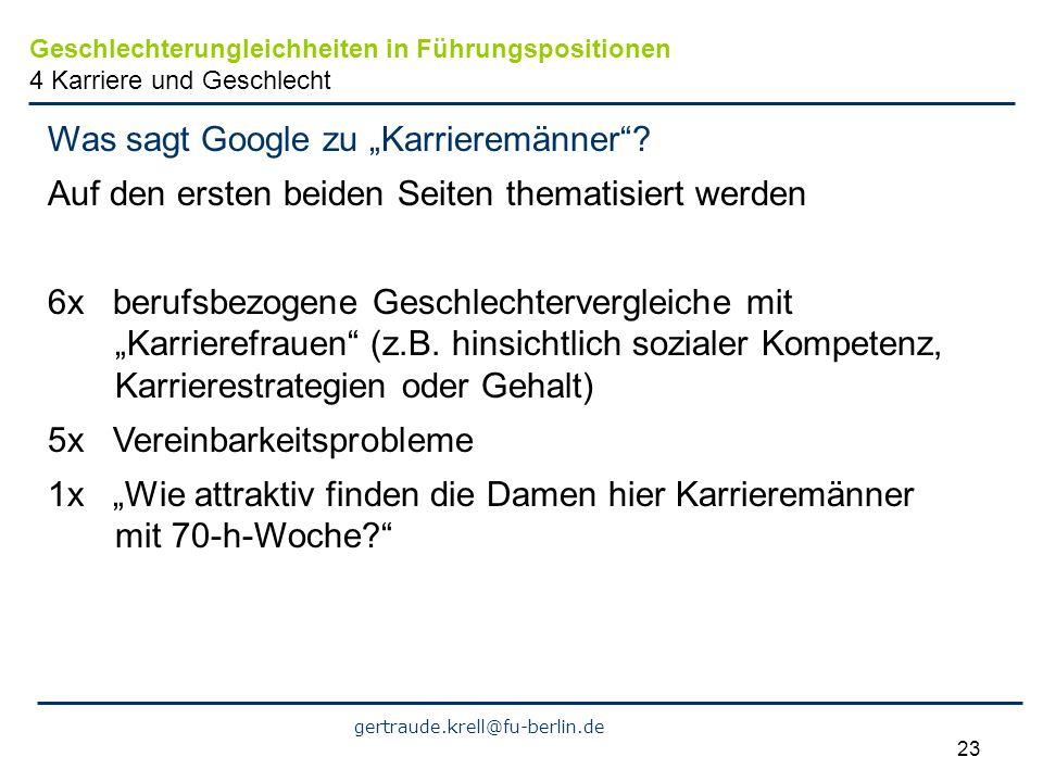 """Was sagt Google zu """"Karrieremänner"""
