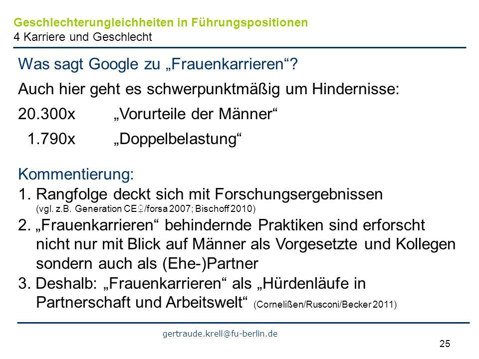 """Was sagt Google zu """"Frauenkarrieren"""