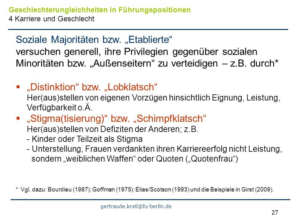 "Soziale Majoritäten bzw. ""Etablierte"