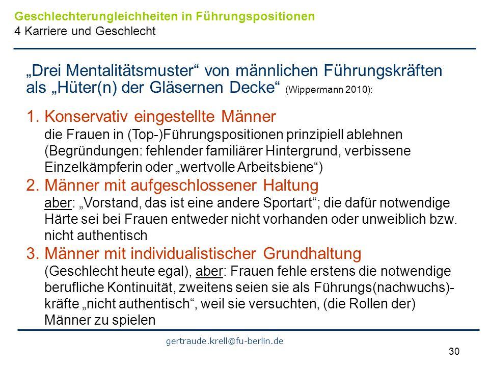 """""""Drei Mentalitätsmuster von männlichen Führungskräften"""