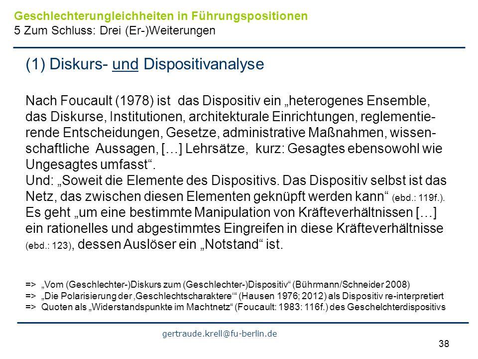 (1) Diskurs- und Dispositivanalyse