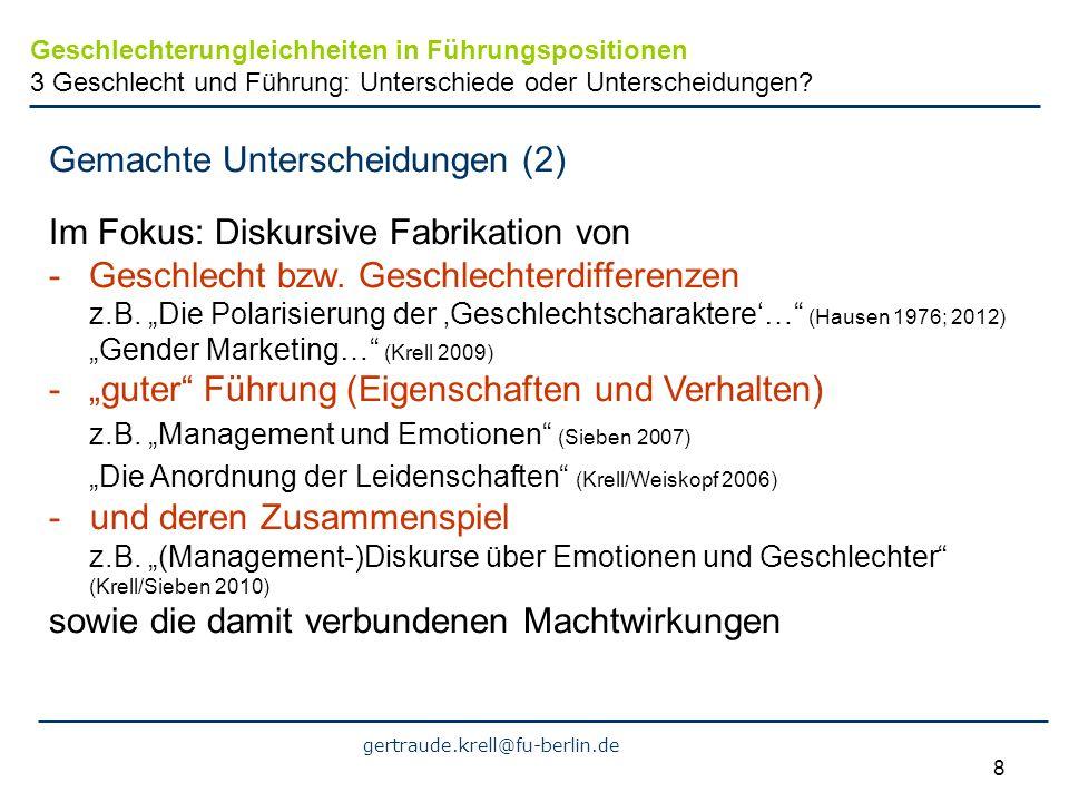 Gemachte Unterscheidungen (2) Im Fokus: Diskursive Fabrikation von