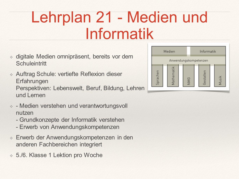 Lehrplan 21 - Medien und Informatik