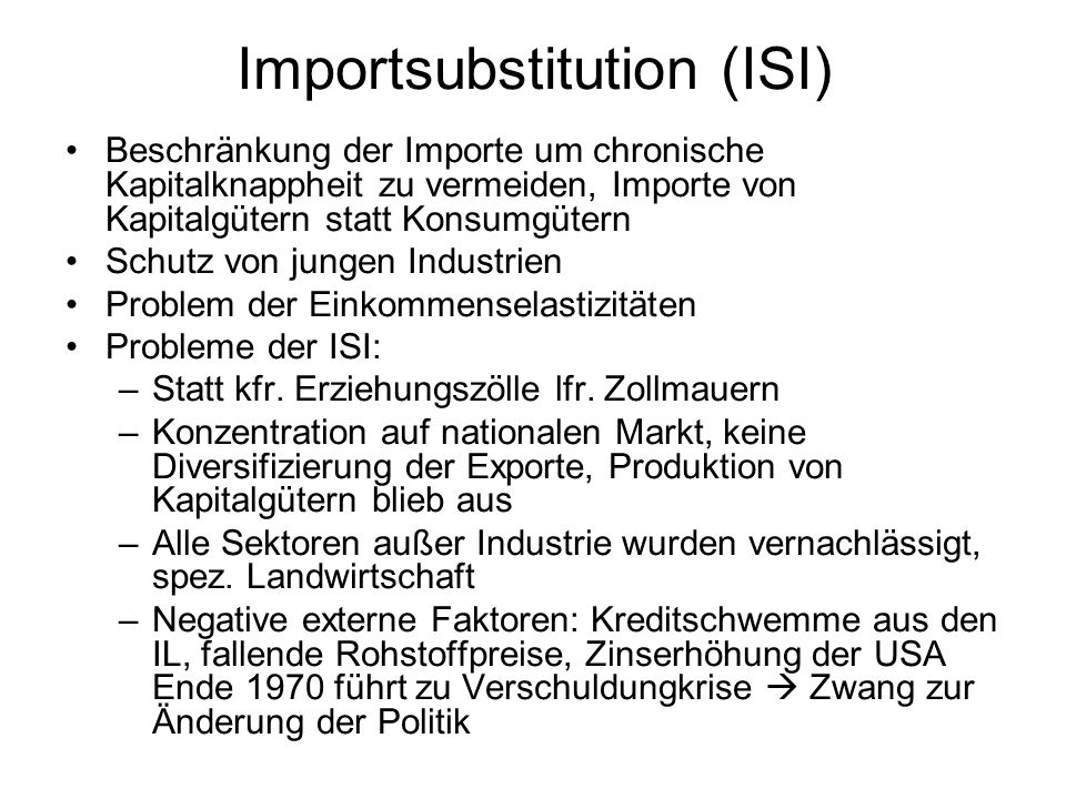 Importsubstitution (ISI)