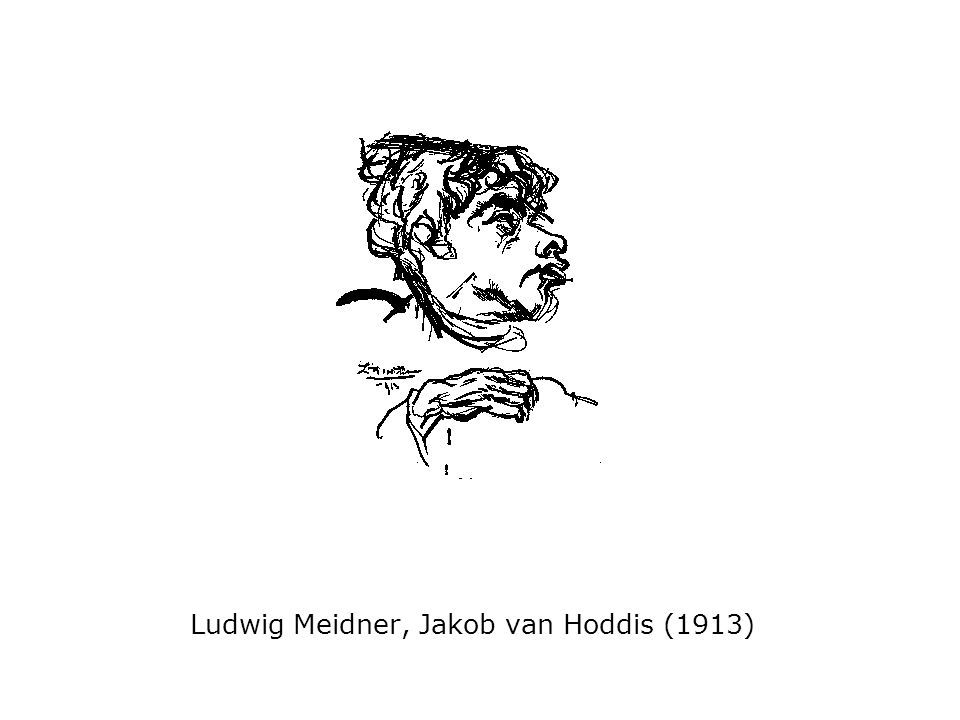 Ludwig Meidner, Jakob van Hoddis (1913)