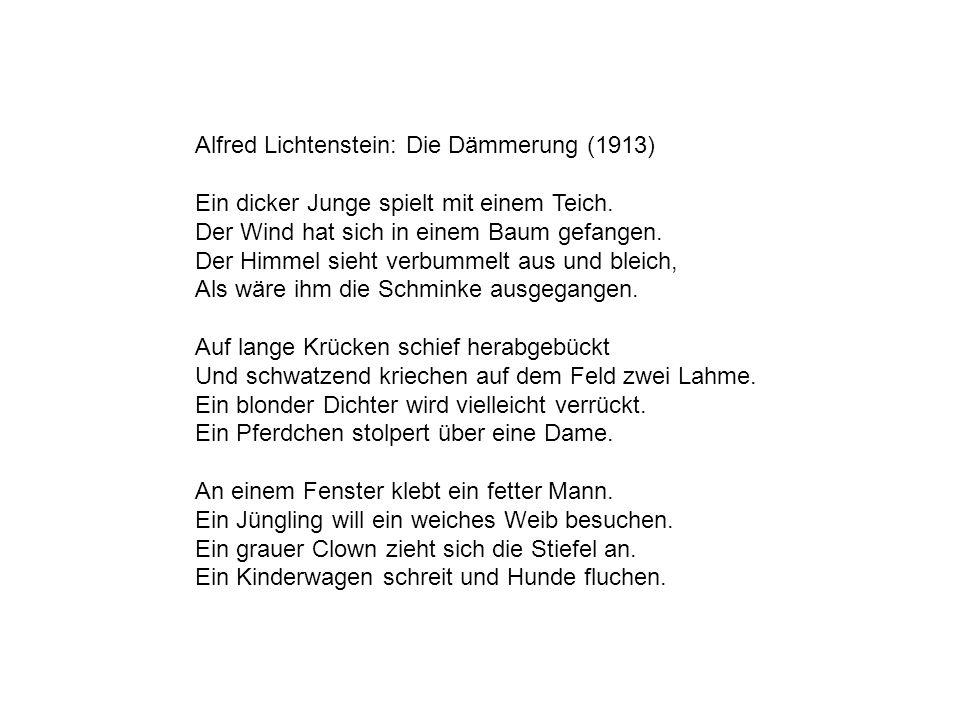 Alfred Lichtenstein: Die Dämmerung (1913)