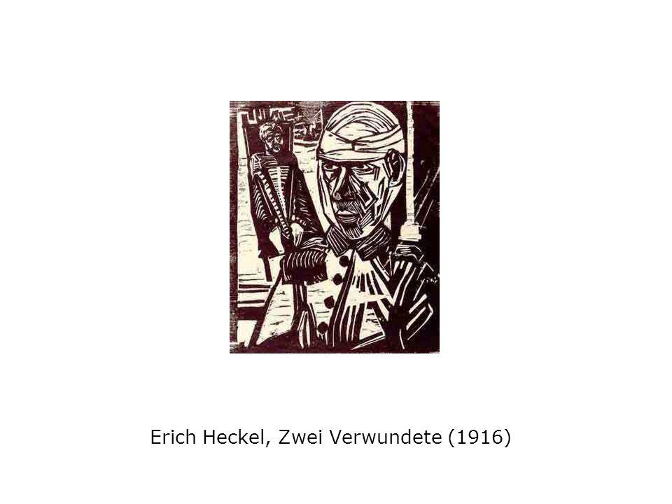 Erich Heckel, Zwei Verwundete (1916)