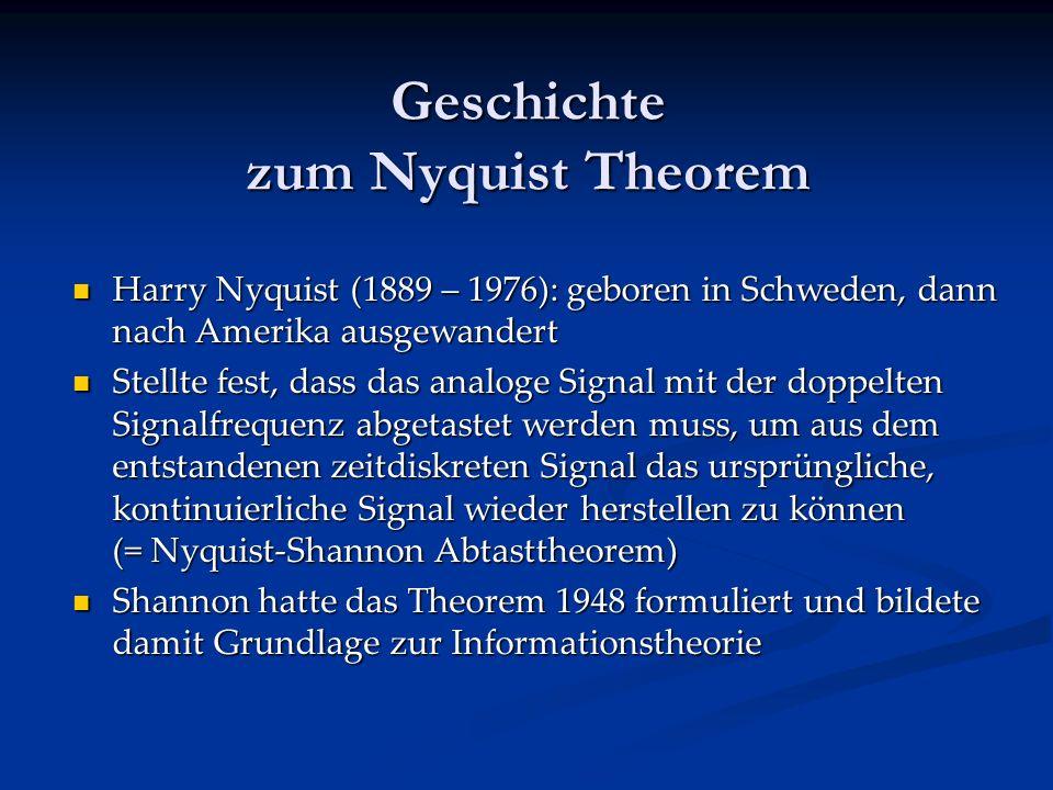 Geschichte zum Nyquist Theorem