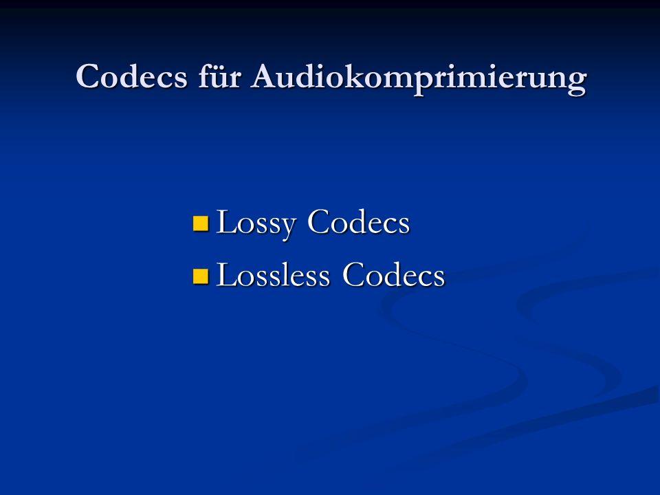 Codecs für Audiokomprimierung