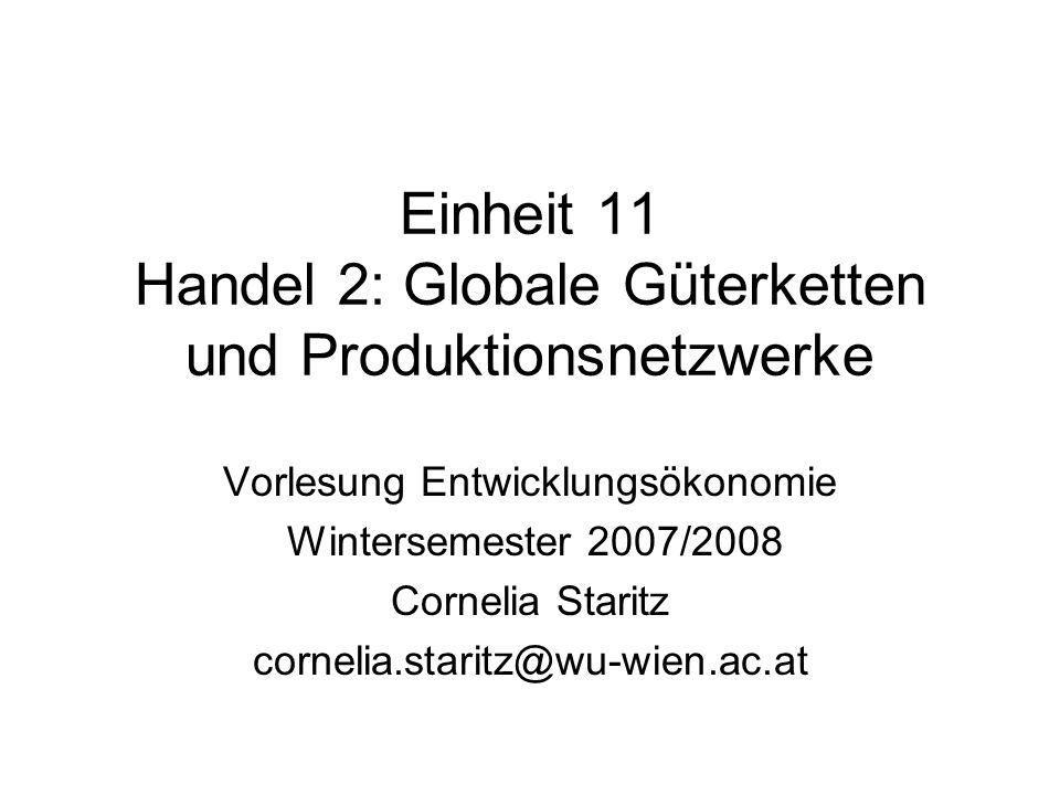 Einheit 11 Handel 2: Globale Güterketten und Produktionsnetzwerke