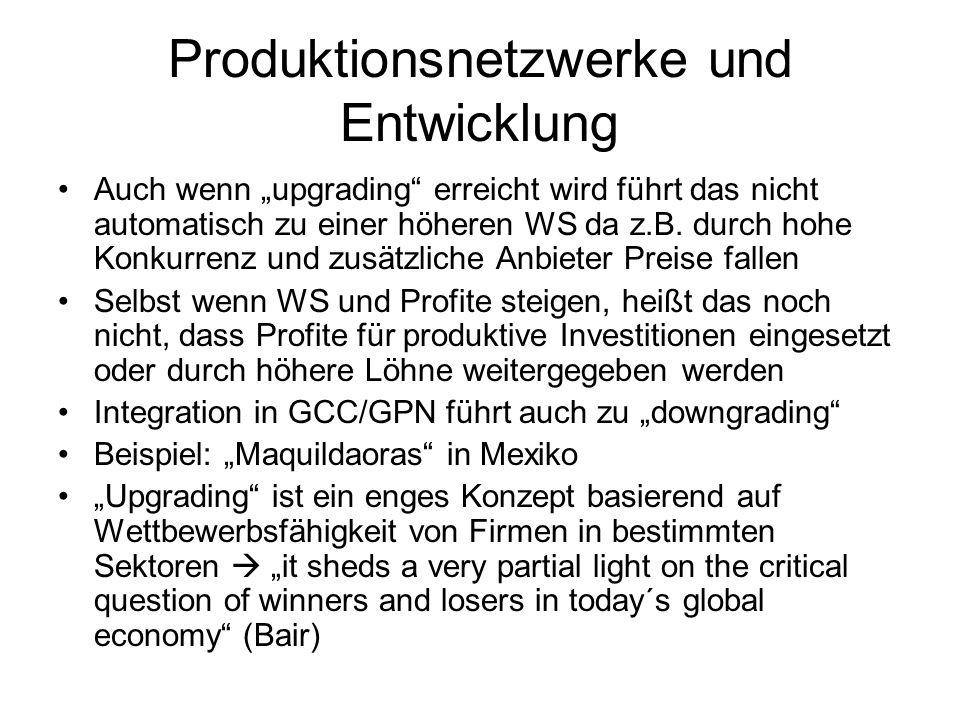 Produktionsnetzwerke und Entwicklung
