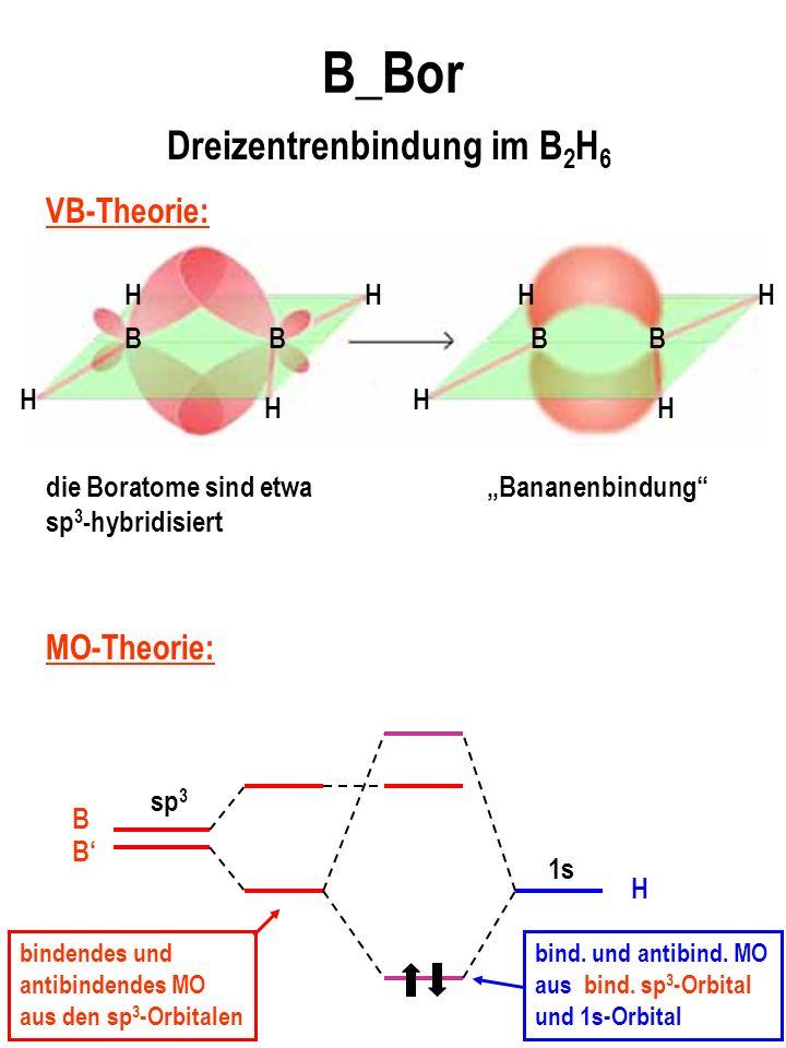 Dreizentrenbindung im B2H6