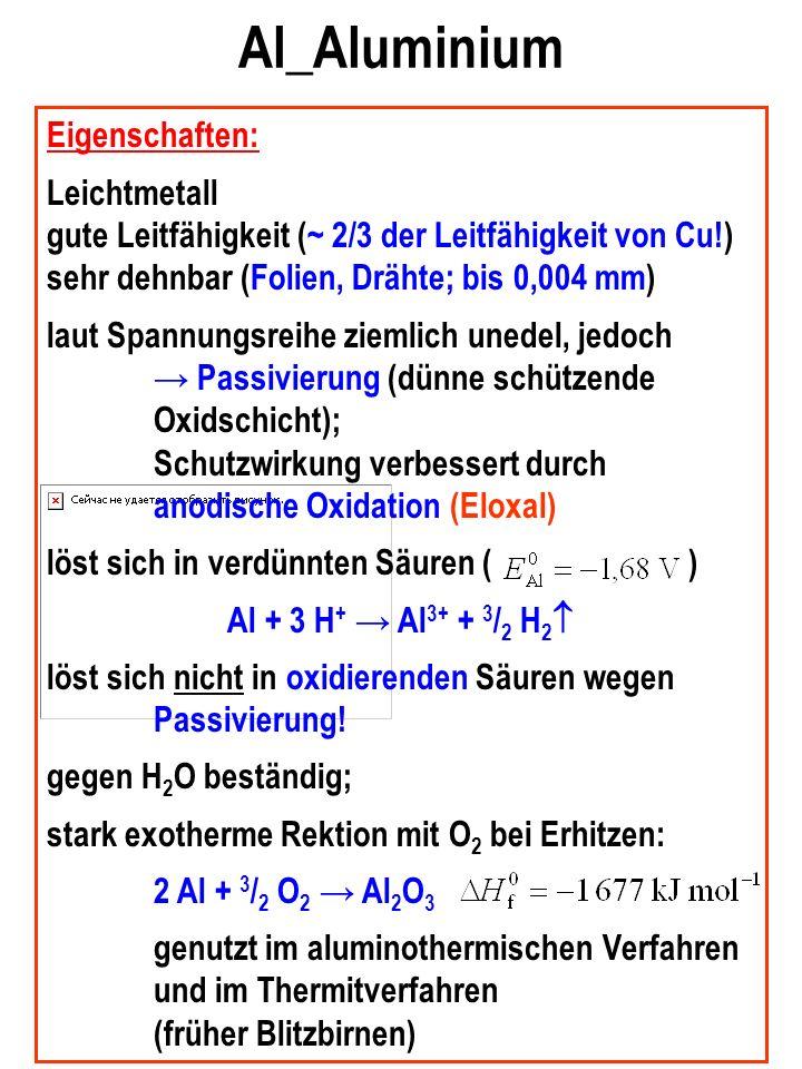 Al_Aluminium Eigenschaften: Leichtmetall