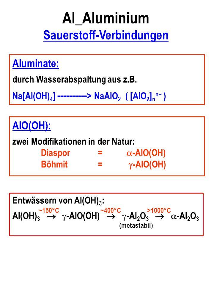 Al_Aluminium Sauerstoff-Verbindungen