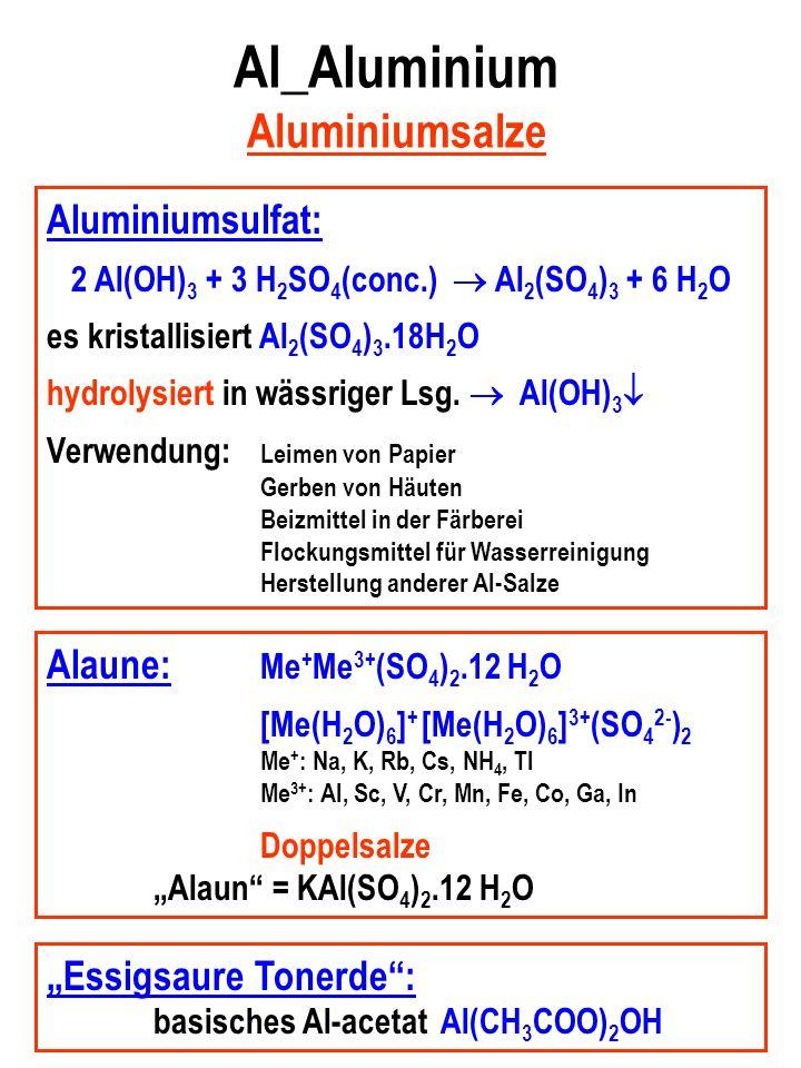 Al_Aluminium Aluminiumsalze
