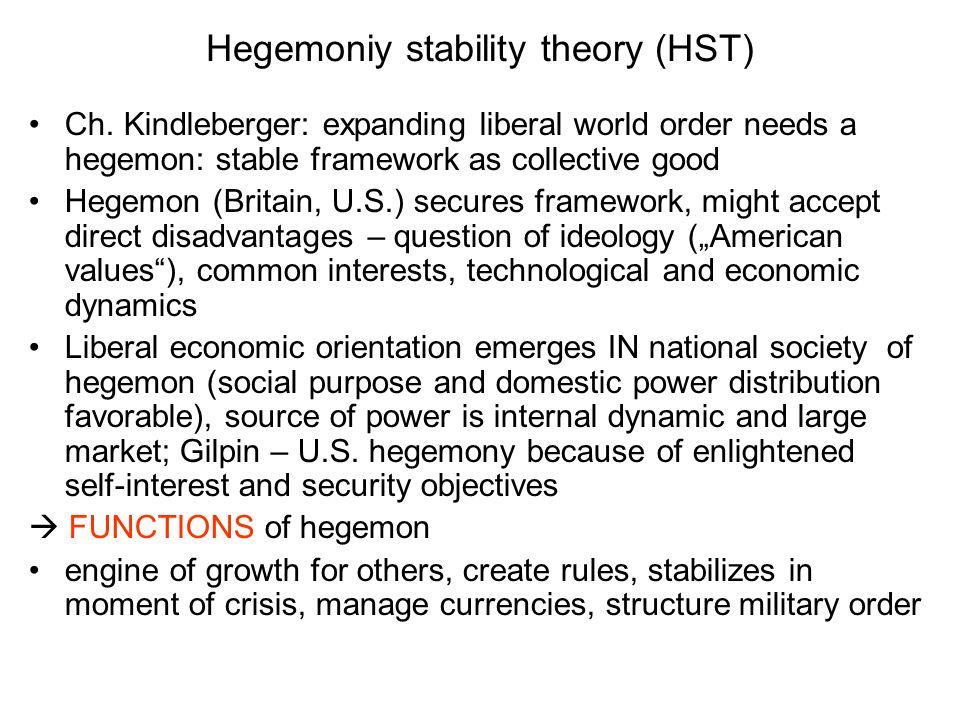 Hegemoniy stability theory (HST)