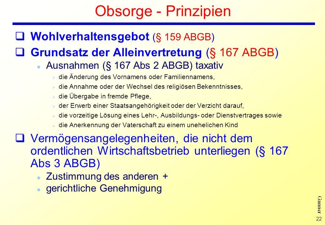 Obsorge - Prinzipien Wohlverhaltensgebot (§ 159 ABGB)