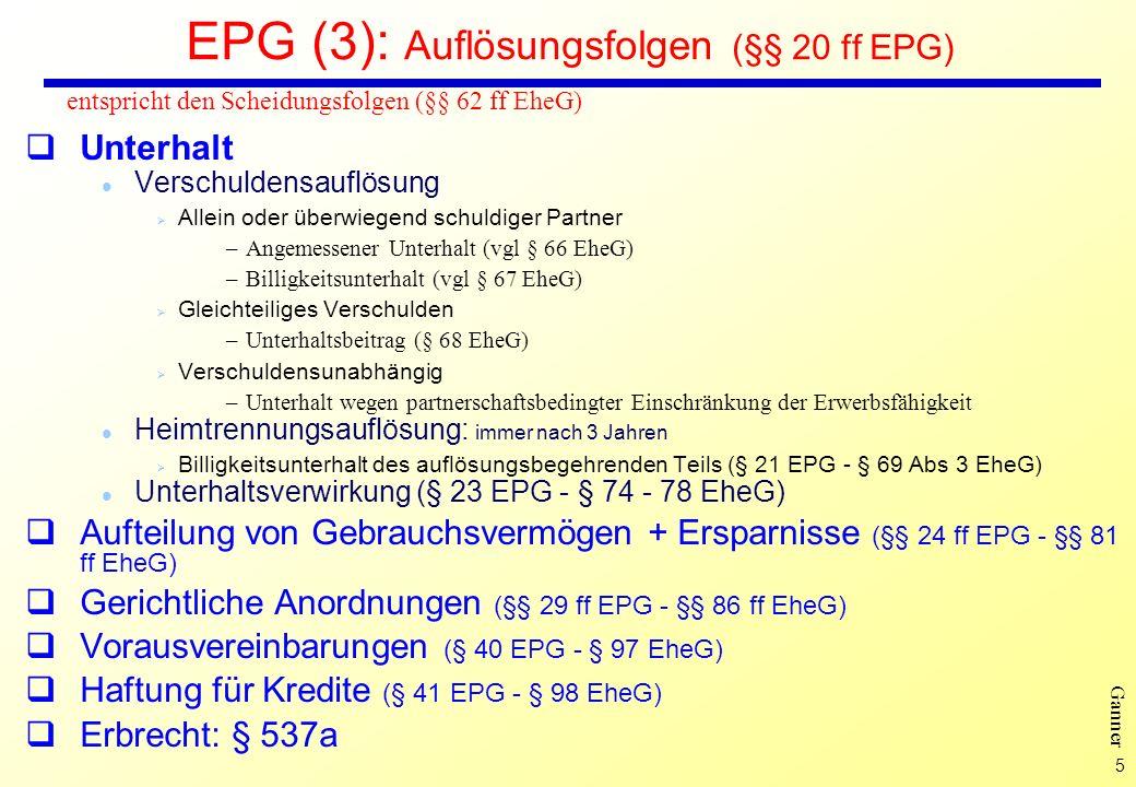 EPG (3): Auflösungsfolgen (§§ 20 ff EPG)