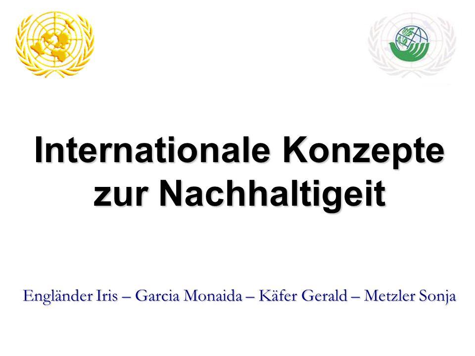 Internationale Konzepte zur Nachhaltigeit