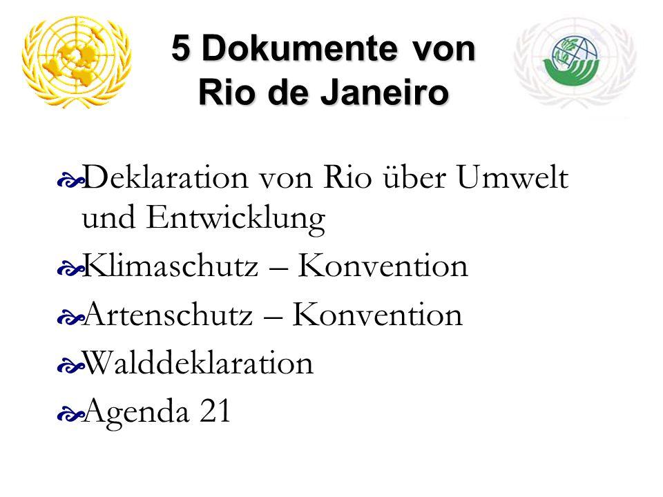 5 Dokumente von Rio de Janeiro