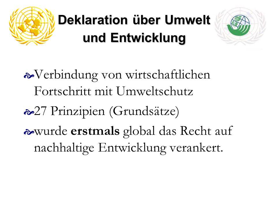 Deklaration über Umwelt und Entwicklung