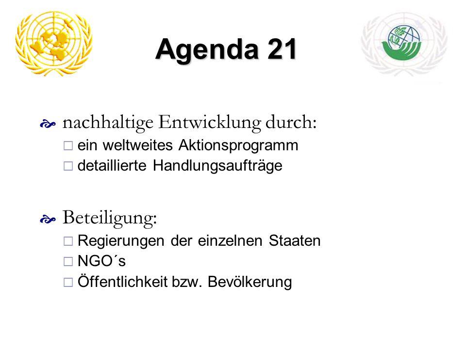 Agenda 21 nachhaltige Entwicklung durch: Beteiligung: