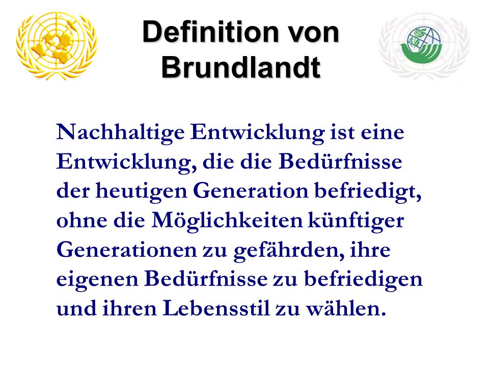 Definition von Brundlandt