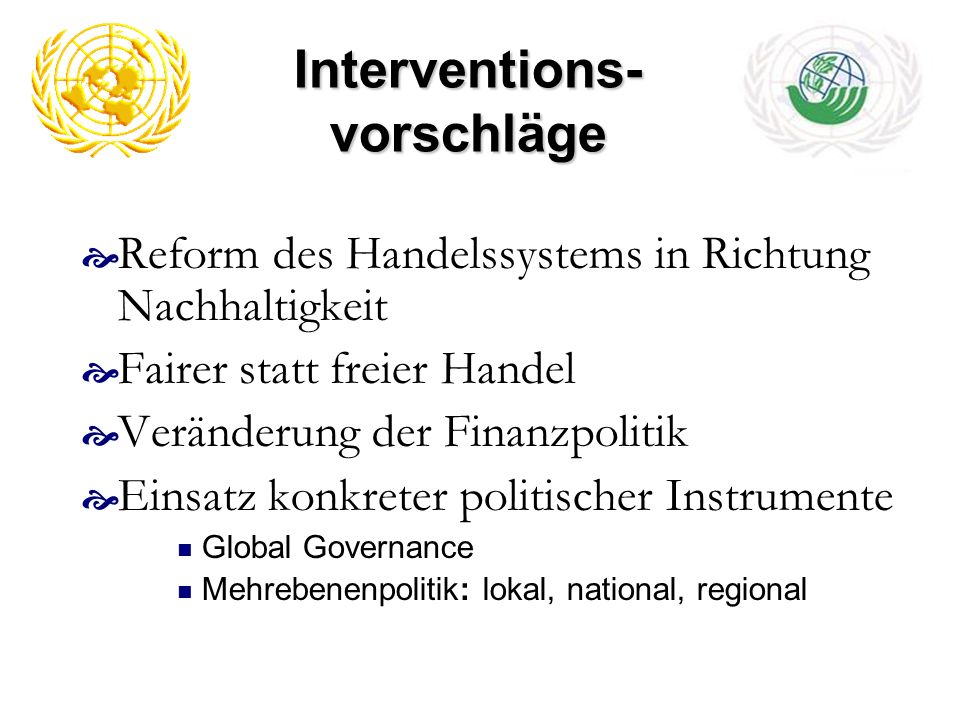 Interventions-vorschläge