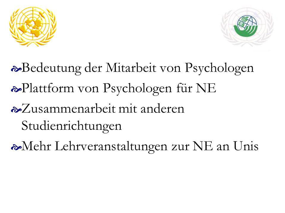 Bedeutung der Mitarbeit von Psychologen