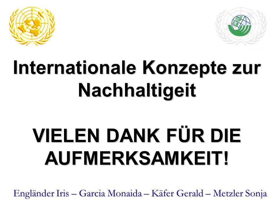 Internationale Konzepte zur Nachhaltigeit VIELEN DANK FÜR DIE AUFMERKSAMKEIT!