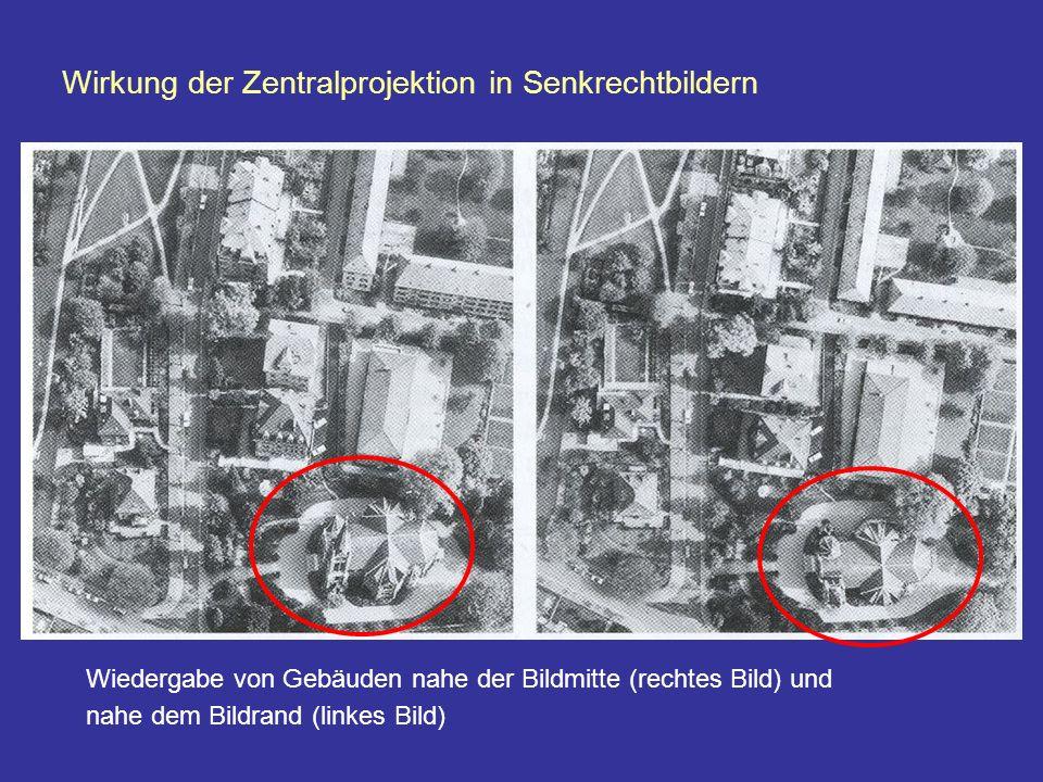 Wirkung der Zentralprojektion in Senkrechtbildern