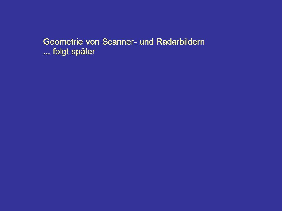 Geometrie von Scanner- und Radarbildern