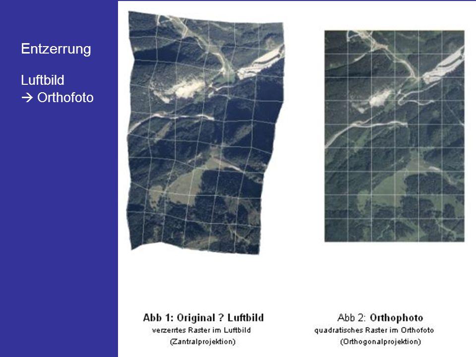 Entzerrung Luftbild  Orthofoto