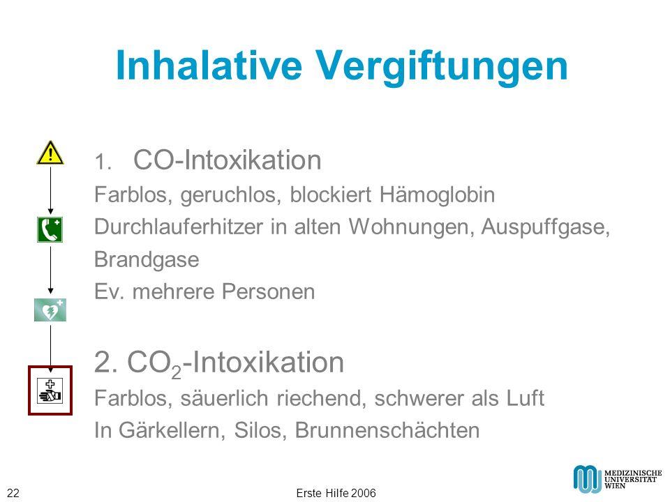 Inhalative Vergiftungen