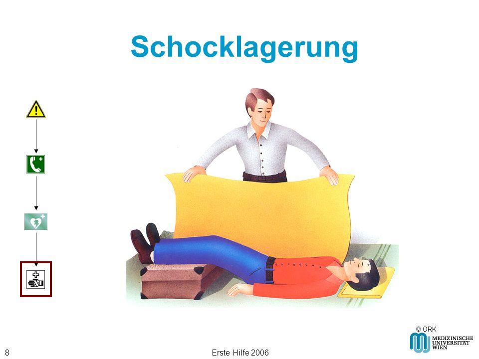 Schocklagerung © ÖRK Erste Hilfe 2006