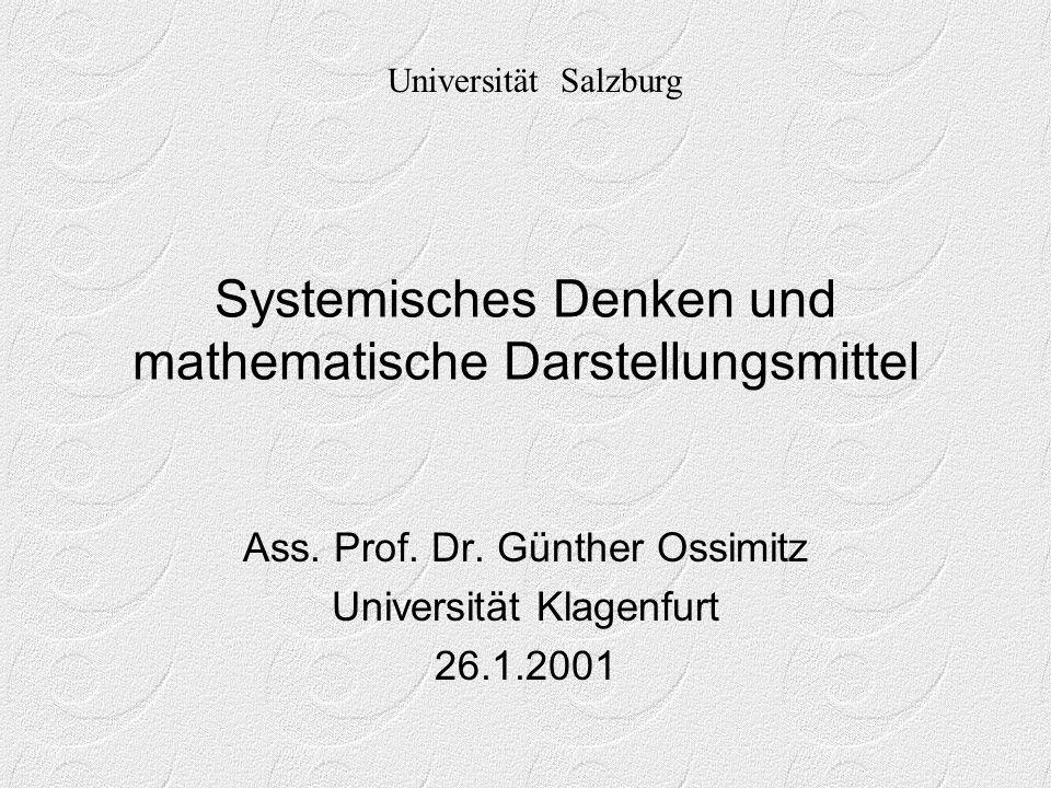Systemisches Denken und mathematische Darstellungsmittel